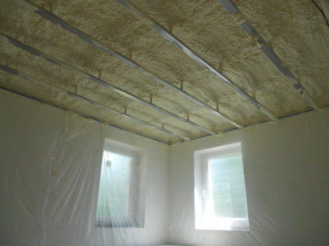 утепление потолка в частном доме Минеральная вата
