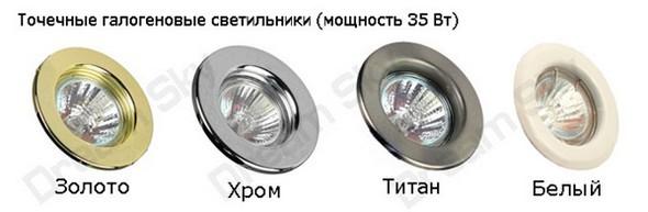 Галогенные лампы для натяжных потолков