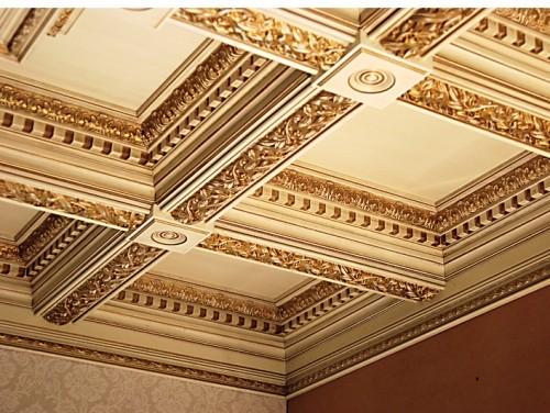 Картонные кессонные потолки