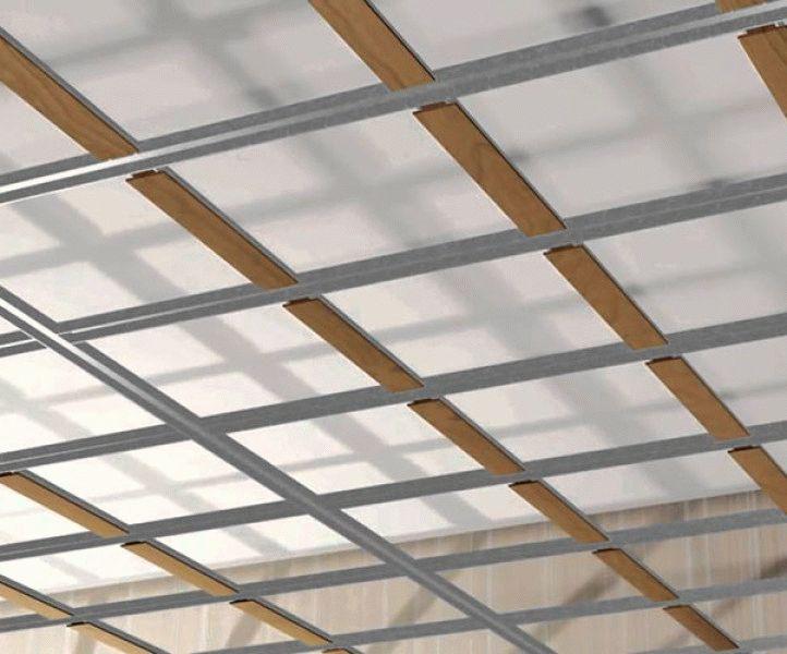 Кессонные потолки Формирование каркаса