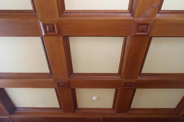 Кессонные потолки из МДФ панелей