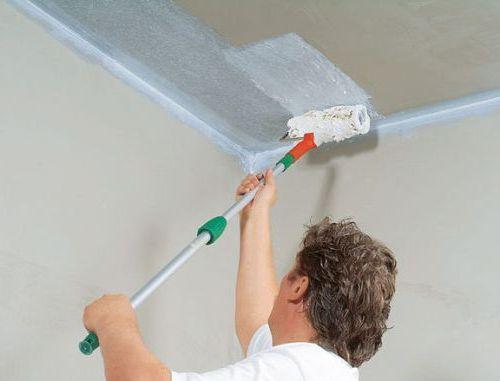 Побелка потолочного покрытия