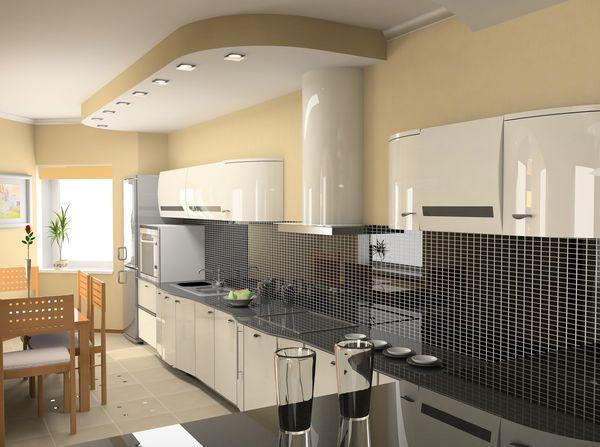 Подшивной потолок на кухне