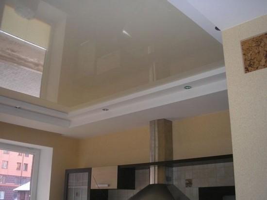Типы гипсокартонных потолков на кухне