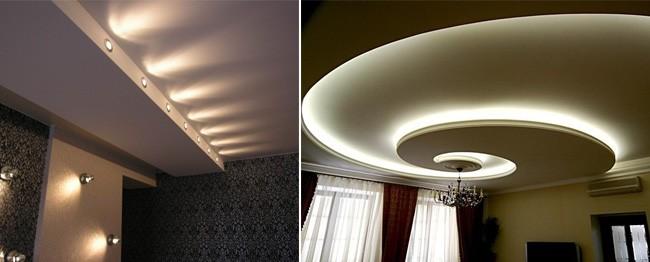 Источники освещения натяжного потолка