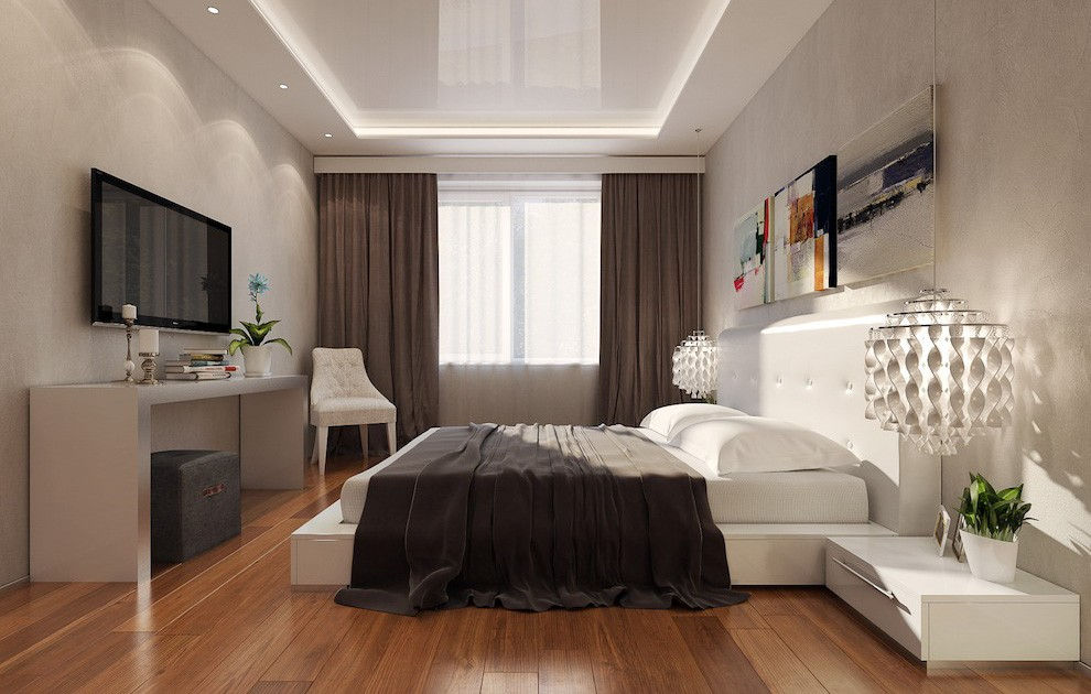 Комната с низкими потолками натяжные потолки