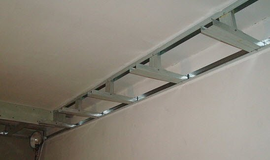 двухуровневый потолок из гипсокартона своими руками Формирование каркаса