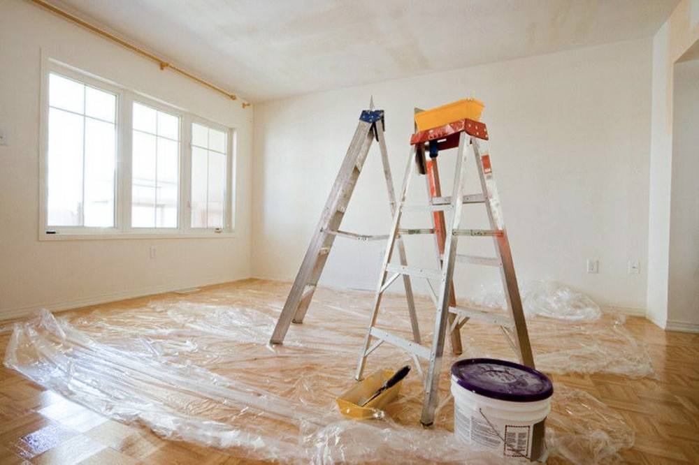 Подготовка помещения для побелки потолка