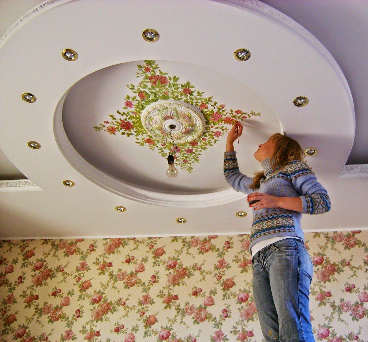 Декор потолкахудожественной росписи