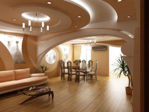 Дизайн потолка в зале, особенности и возможные варианты
