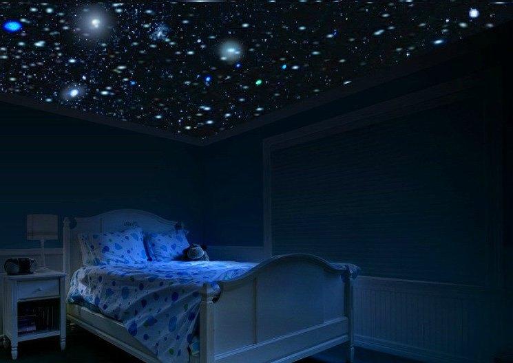 Эффект звездного неба на натяжном потолке Светодиодные лампы