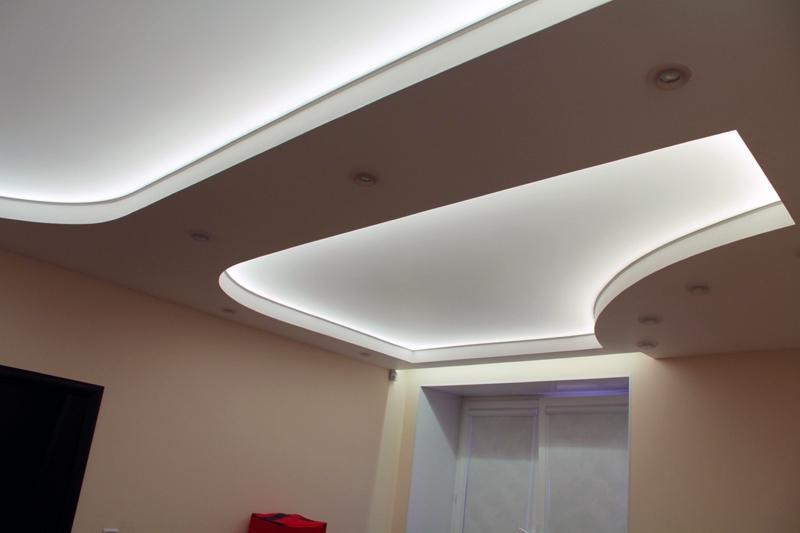 Натяжной потолок под освещение – установка