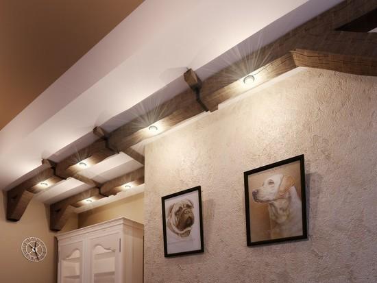 Потолочные балки - модный штрих в современном интерьере