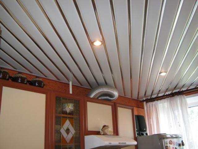 Потолок на кухне Панели из ПВХ