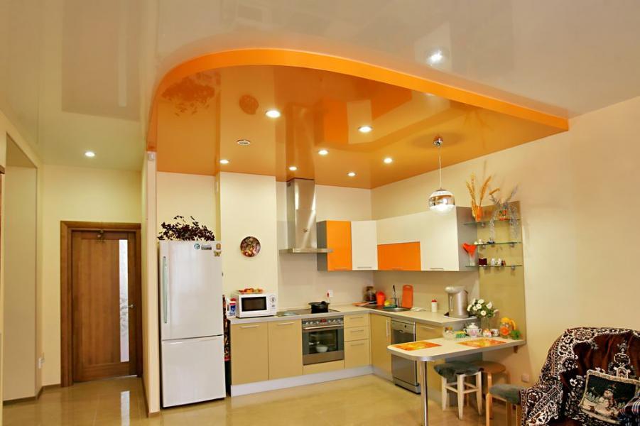 Потолок на кухне Потолки натяжные