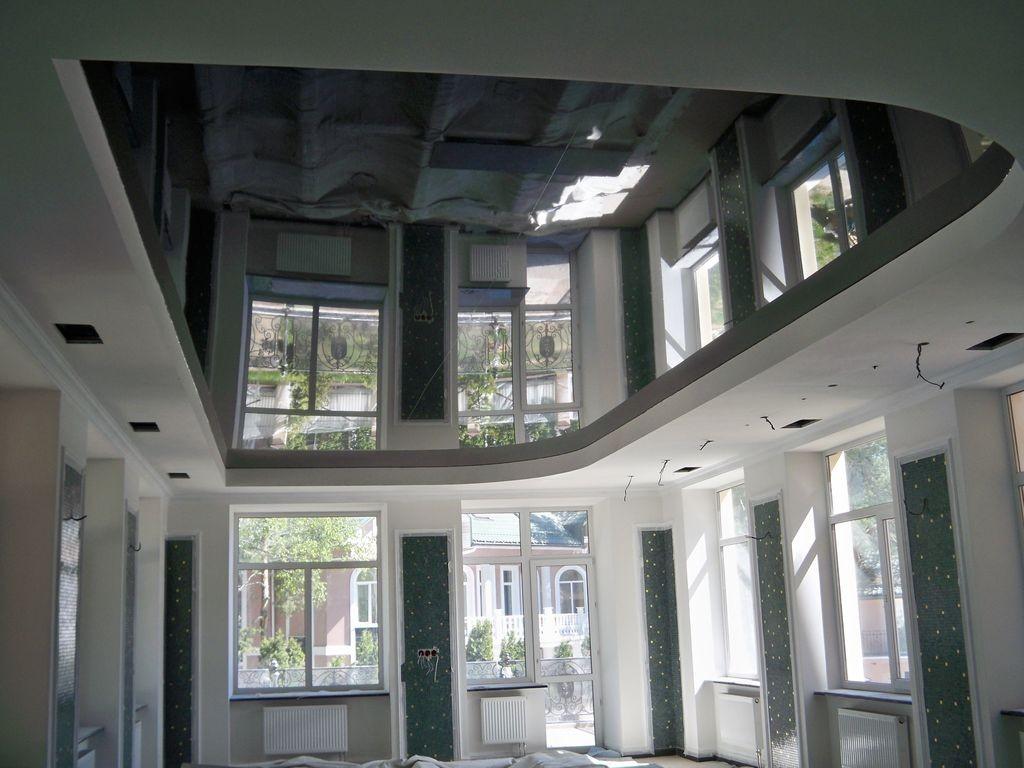 Практические характеристики натяжного потолка чёрного цвета