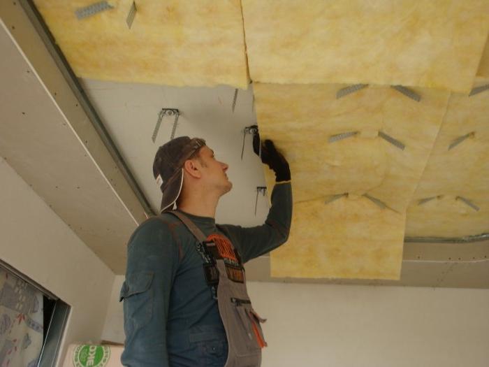 Шумоизоляция потолка: используемые материалы