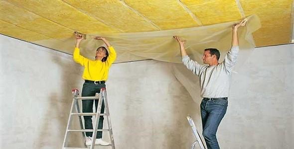 Шумоизоляция потолка своими руками