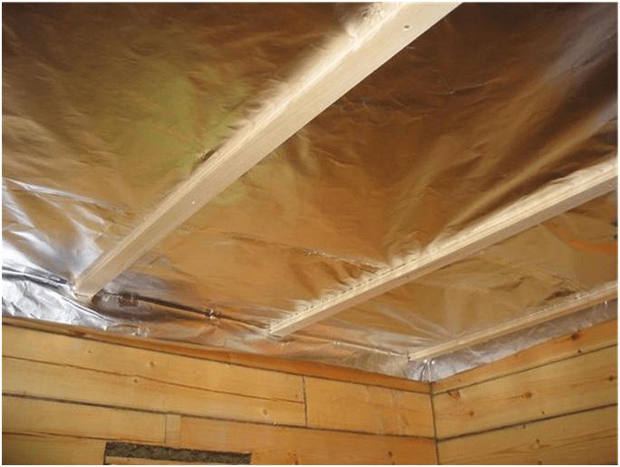 Специфика теплоизоляции потолка бани