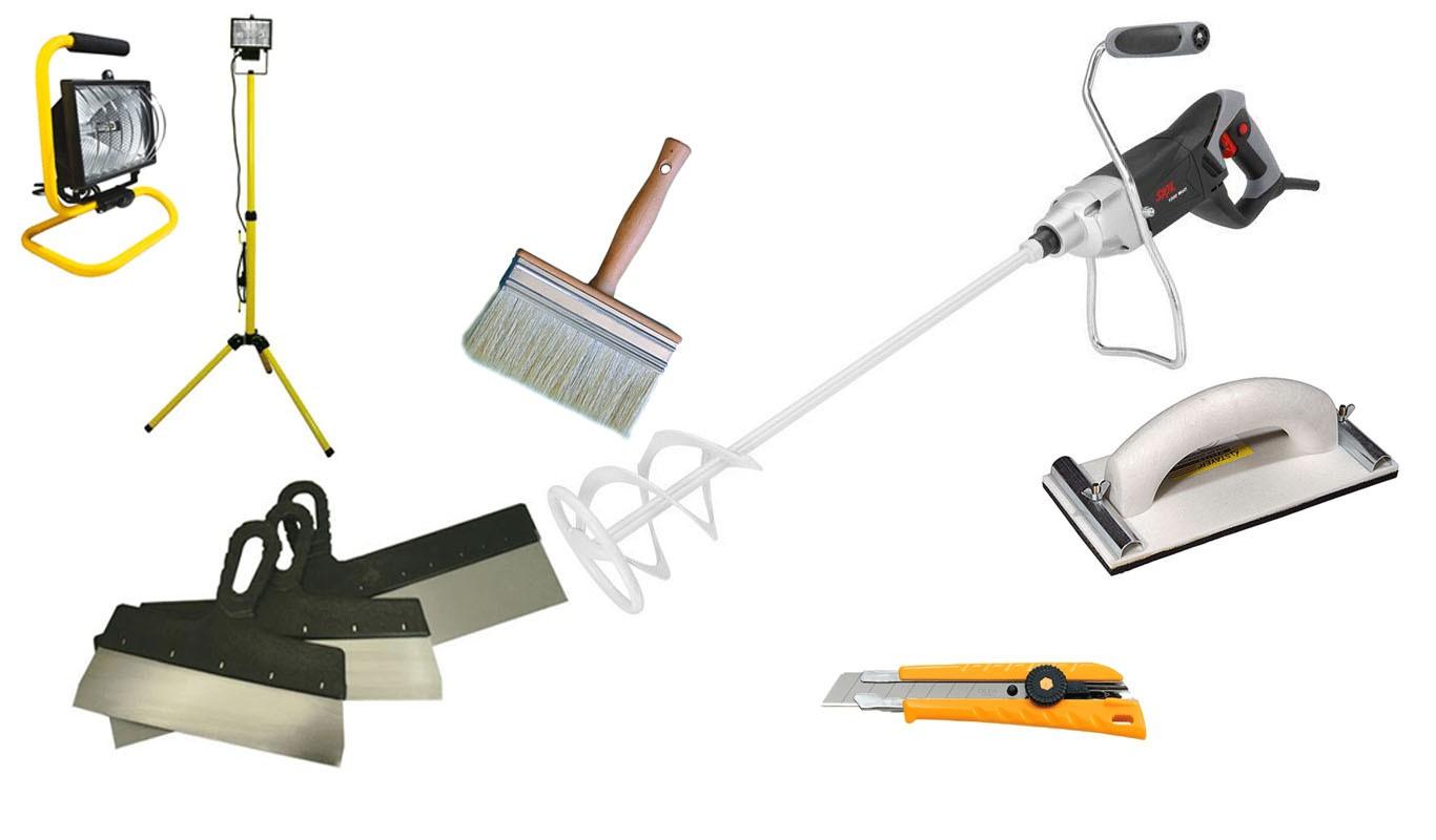 Выбор материалов и инструментов шпаклевка