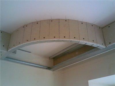 Фигурный потолок из гипсокартона согнуть лист