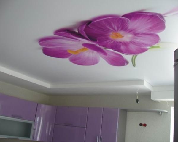 Как делают натяжные потолки 3D фотопечать