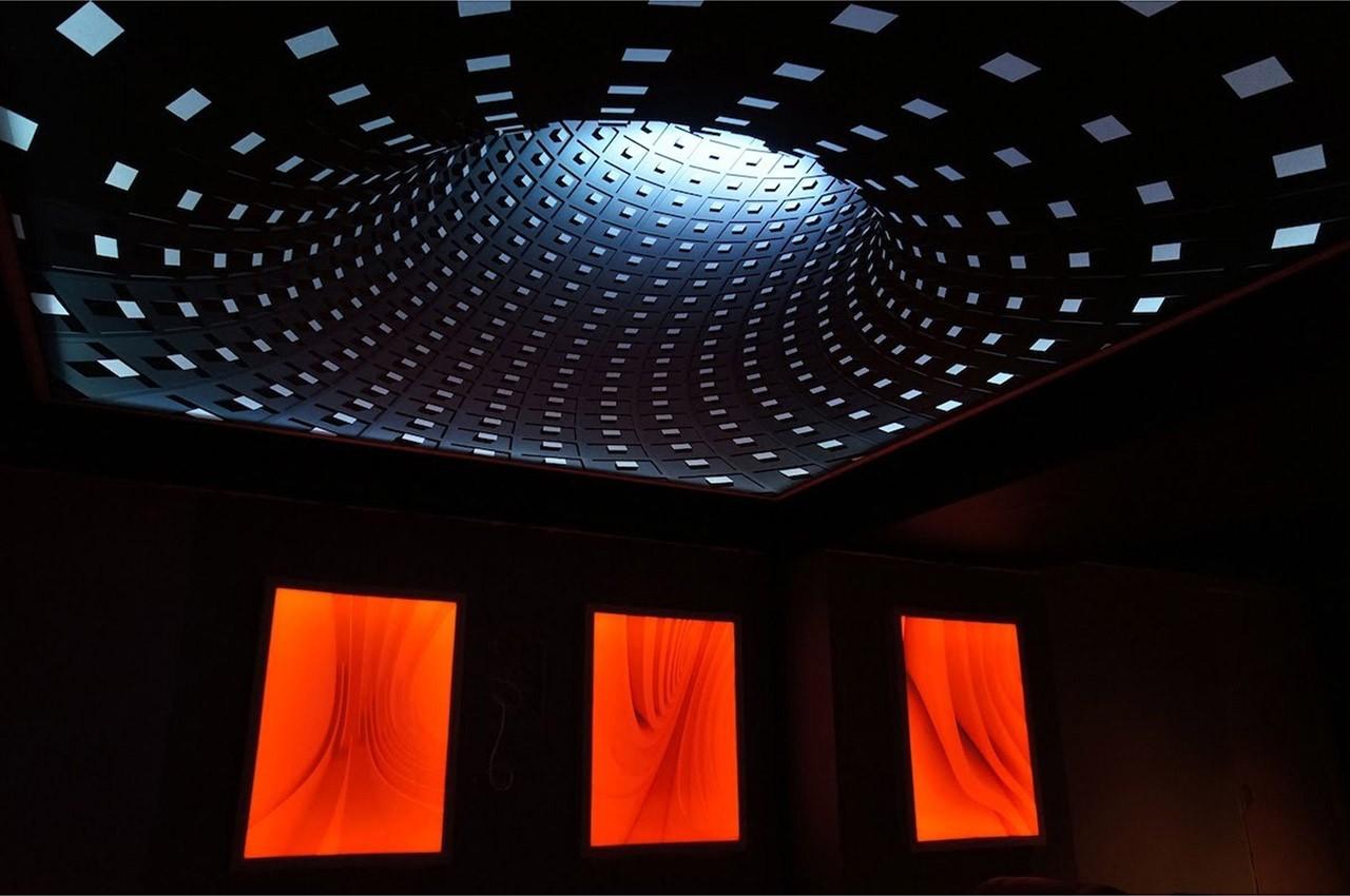 Как делают натяжные потолки 3D