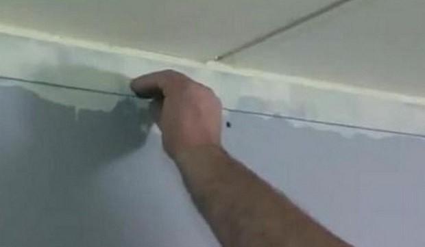 Как сделать натяжной потолок своими руками: нанесение разметки