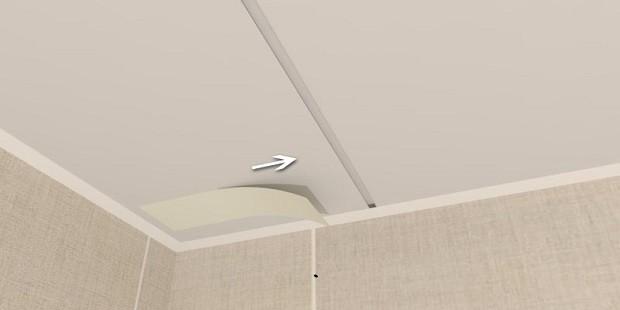 Как установить последнюю панель на потолок
