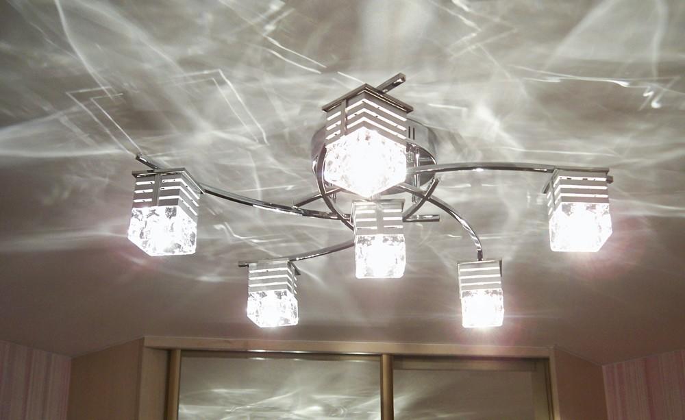 Люстры с плафонами для натяжных потолков