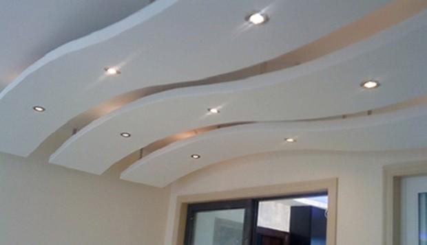 Особенности фигурных подвесных потолков