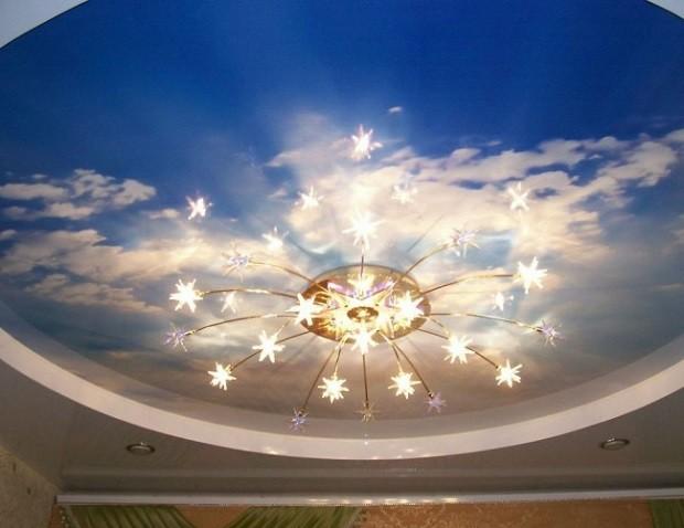 Освещение для натяжного потолка «Облака»