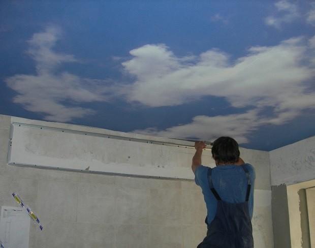 Подготовка к монтажу потолка с небесами