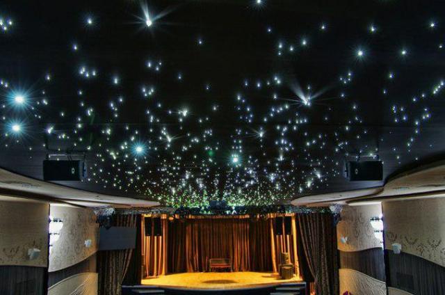 звёздное небо на потолке мерцание
