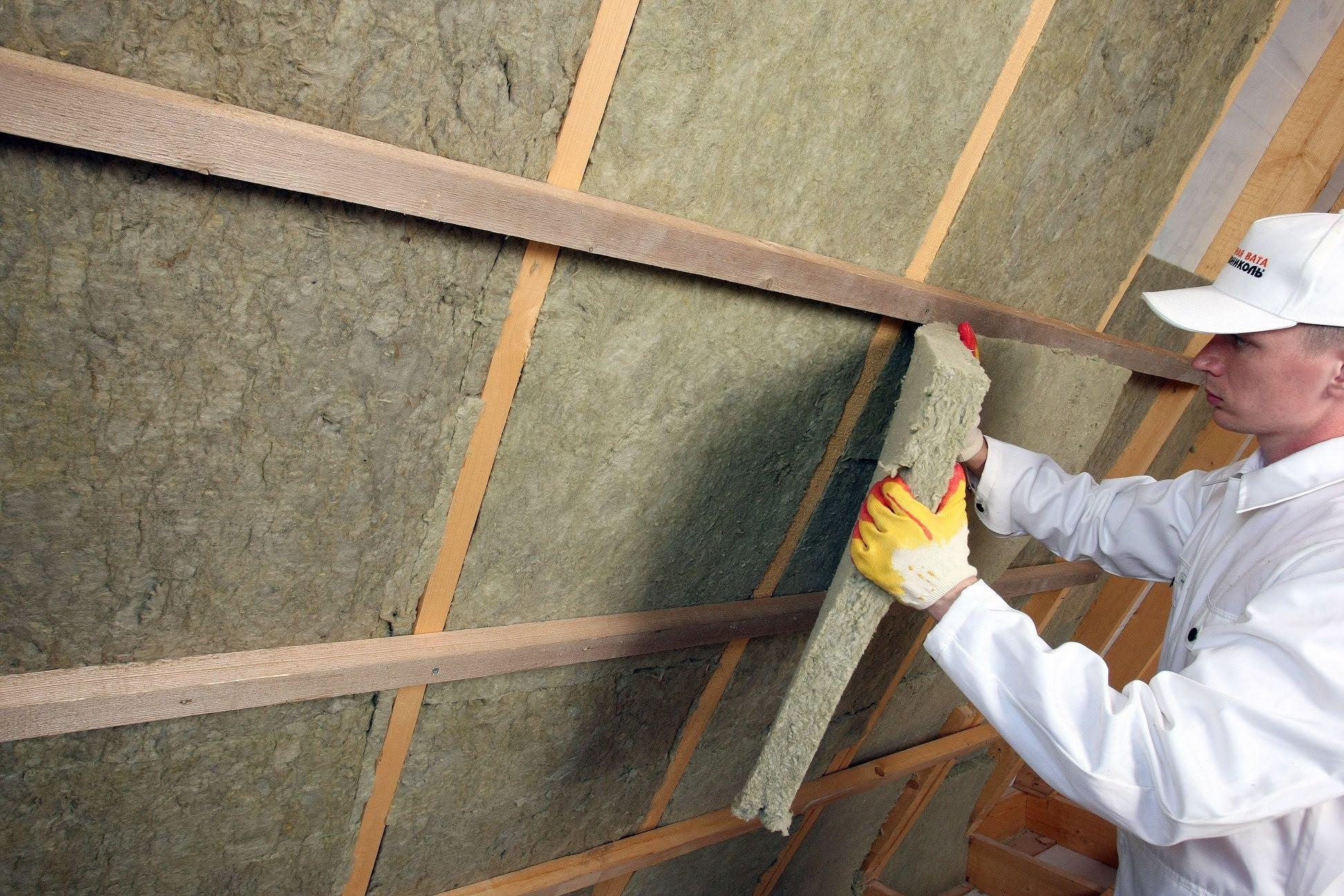 Базальтовая (каменная) утеплитель для потолка