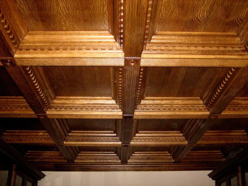 Деревянные потолочные плиты