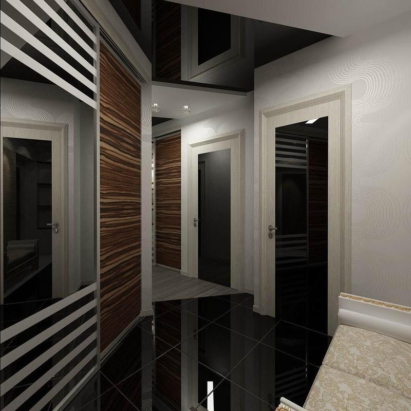Фото натяжных потолков в коридоре
