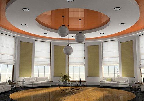 Конструкция двухуровневых потолков