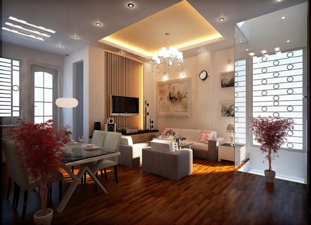 Крупногабаритные конструкциииз светодиодных элементов для комнат