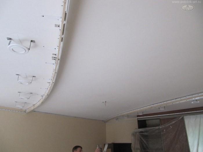 Многоуровневые натяжные потолки Подготовка