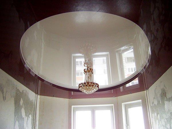 Многоуровневые натяжные потолки - Подиум под люстру