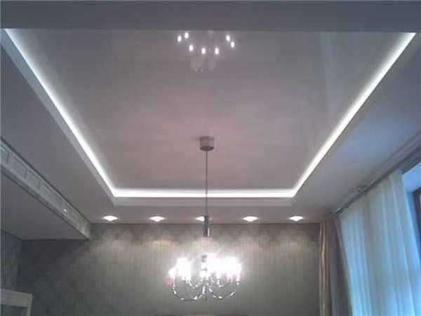 Многоуровневые натяжные потолки - Варианты освещения