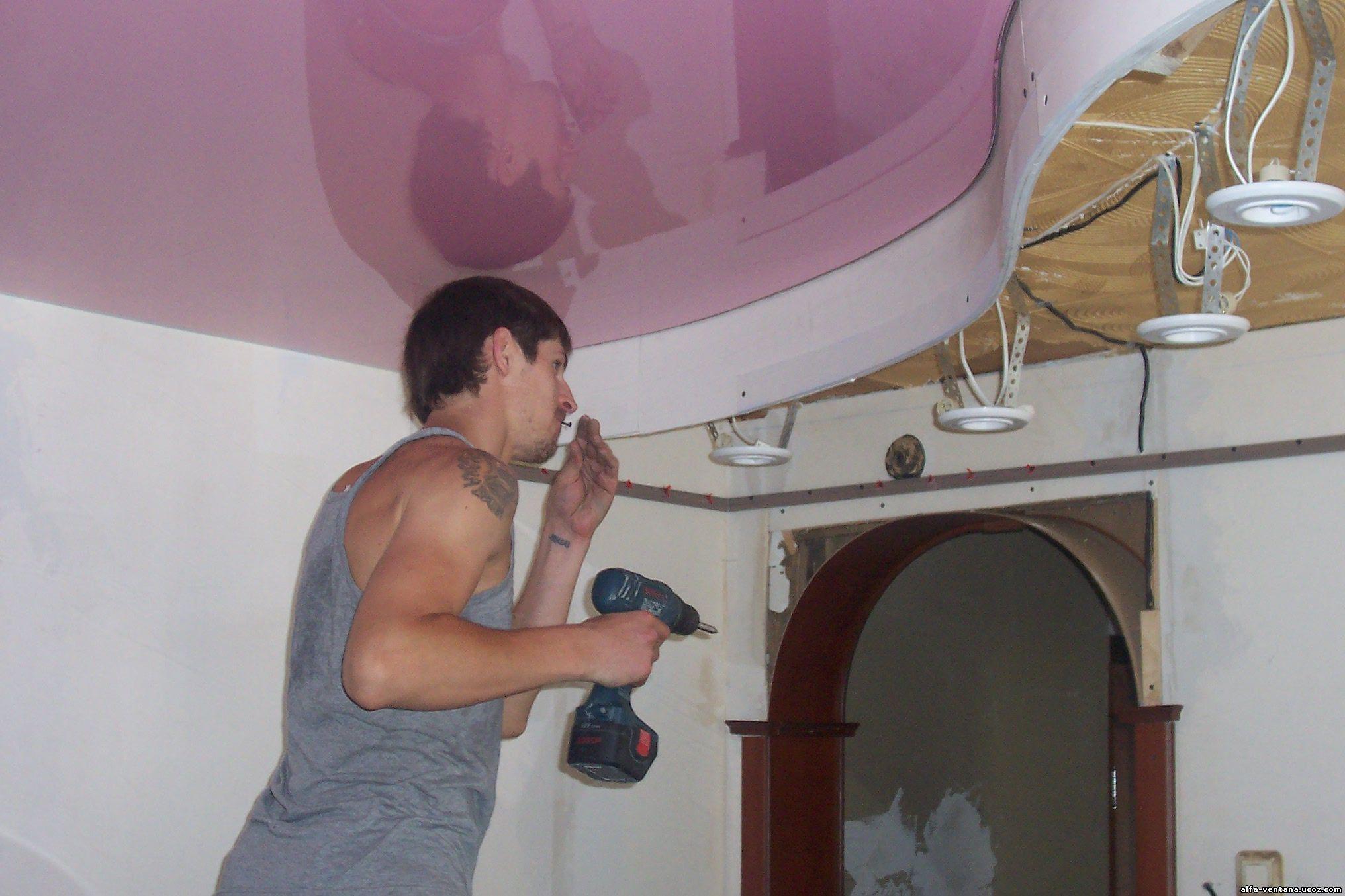 собранные как делают двухуровневые натяжные потолки фото хотите