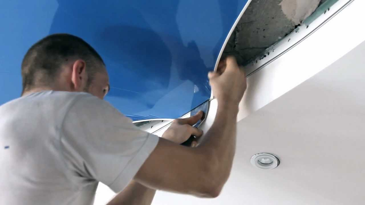 Многоуровневые натяжные потолки установка натяжного полотна