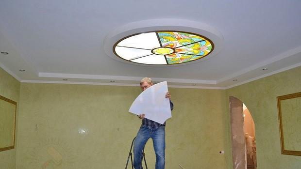 Монтаж стеклянных плиток