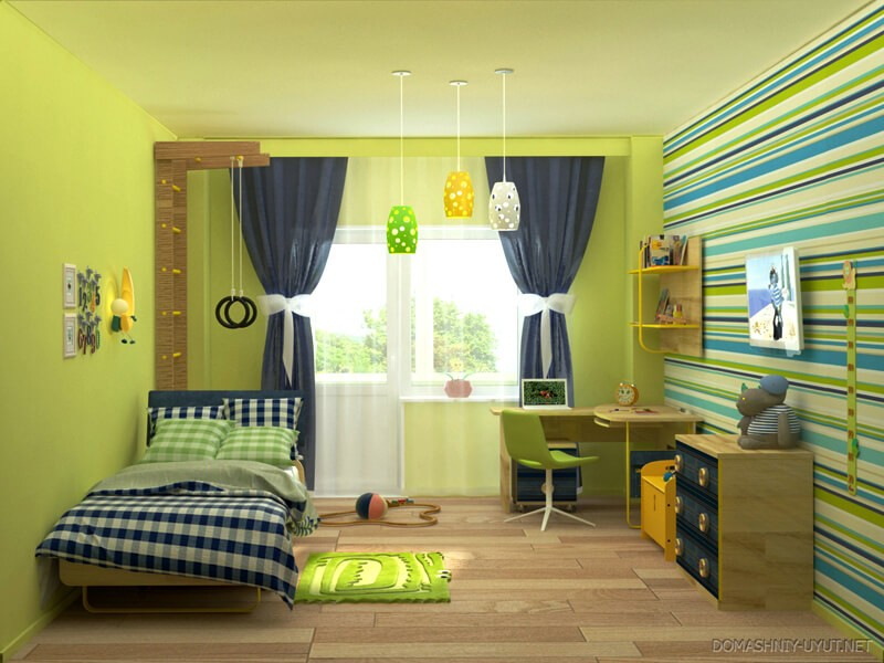 Натяжной сатиновый потолок для детской комнаты