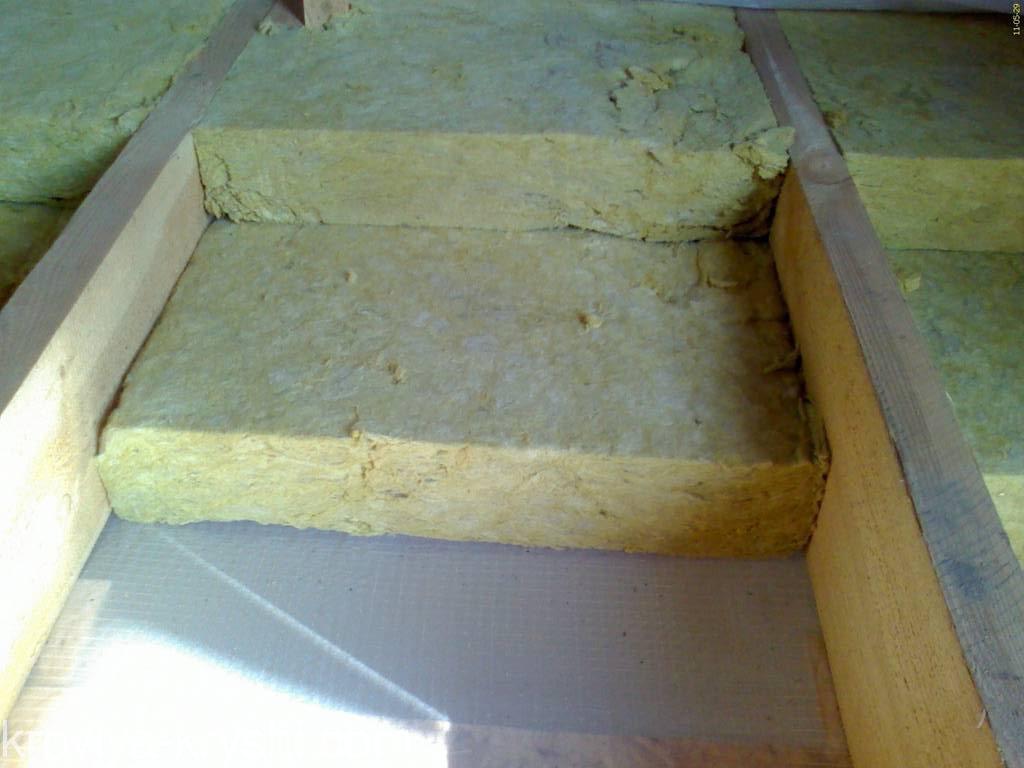 Оптимальная толщина минваты для утепления потолка