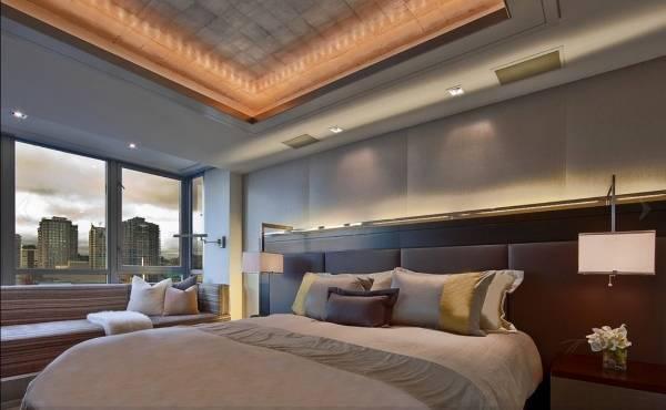 Подсветка потолка светодиодной лентой под плинтусу
