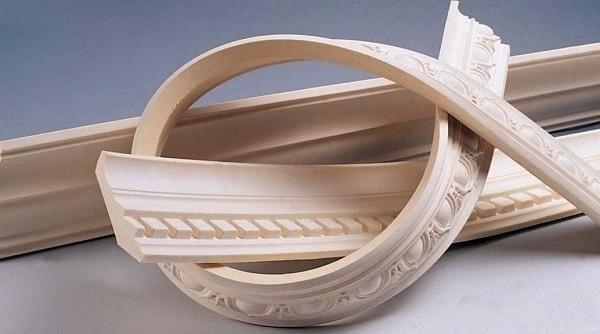 Полиуретановые гибкие потолочные багеты