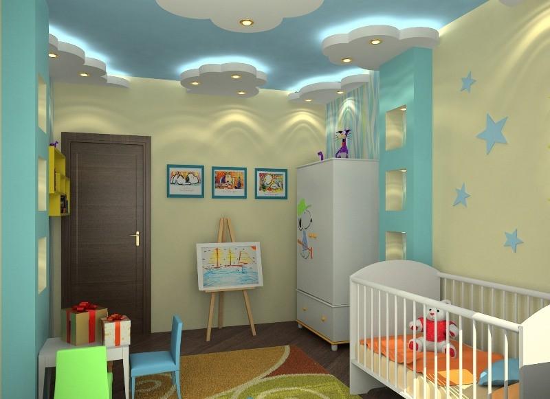 Потолки в детской комнате